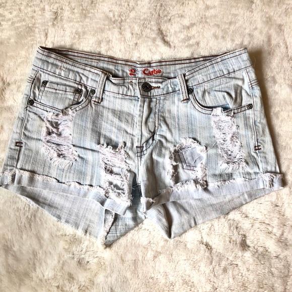 2 Cute Pants - 2 Cute ripped denim shorts